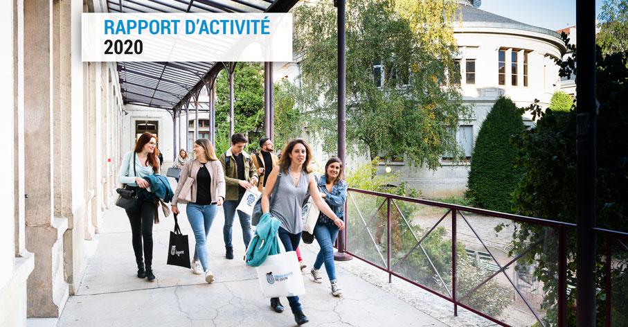 Photo de couverture du rapport d'activité UdL 2020 © Thierry Fournier - Collectif IRIS Campus des Quais - 2018
