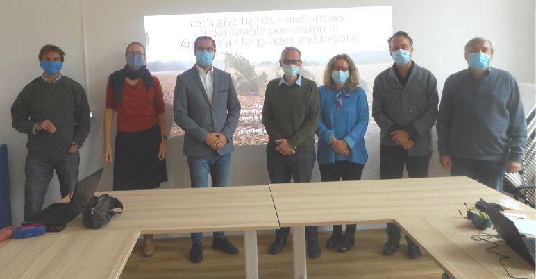 Les sept chercheurs du Collegium arrivés sur site