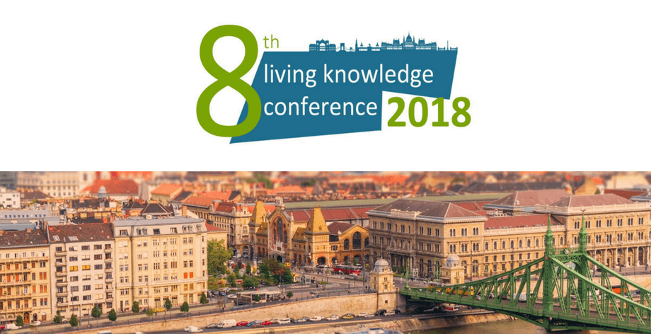 Colloque Budapest Livingknowledge mai 2018