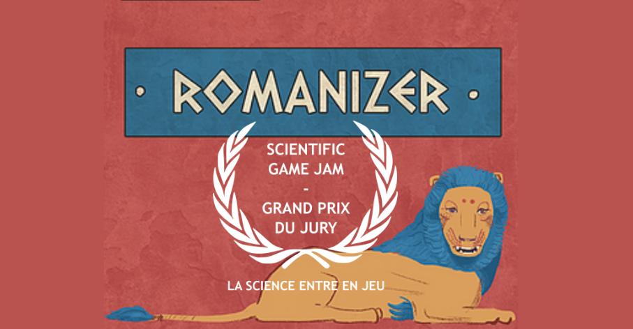 Romanizer jeu historique vainqueur du Scientific Game Jam, Lyon 2021