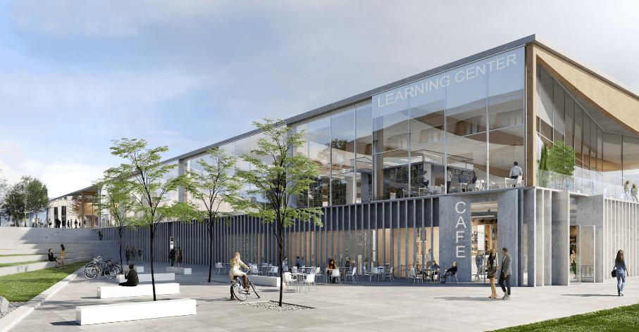 Perspective d'architecture du projet - © ALA Architects & Nicolas Favet Architectures, image par Nomad