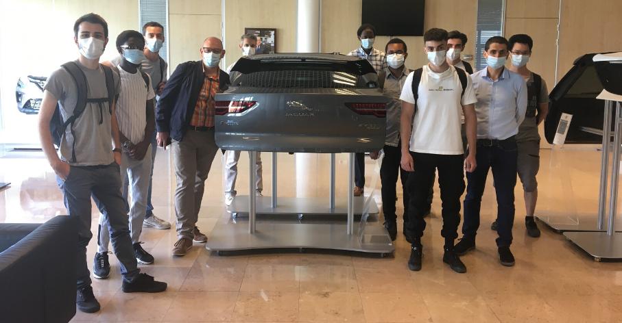 Visite du centre de R&D SIGMATECH de Plastic Omnium, parrain de la promotion