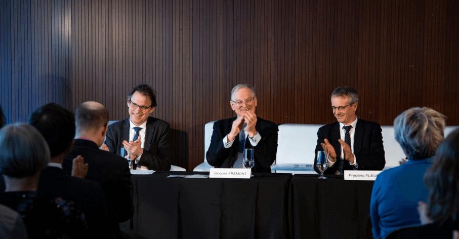 Alain Schuhl, Directeur général délégué à la Science du CNRS, Jacques Frémont, Recteur de l'Université d'Ottawa et Frédéric Fleury, Vice-Président Stratégie académique de l'UdL et Président de l'Université Lyon 1