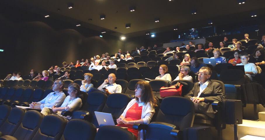 Lancement de la Graduate School H2O'Lyon, grand auditorium du Musée des Confluences - crédit photographique GRAIE