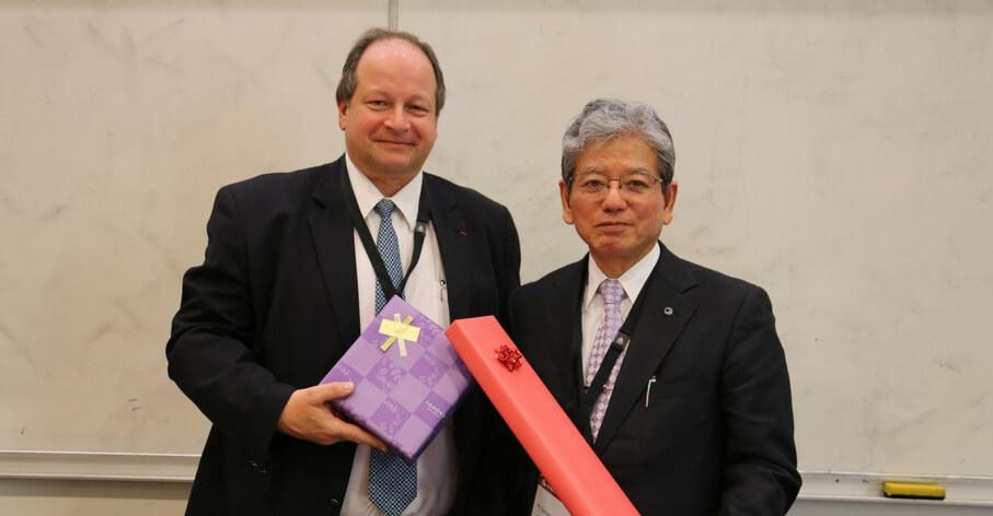 S. Martinot, Directeur de Cabinet Université de Lyon et S. Satomi, Président de l'Université du Tohoku