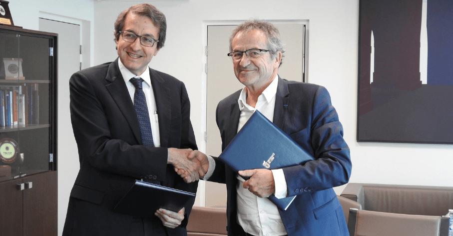 Alejandro Adem, Directeur général et directeur scientifique de Mitacs et Jacques Comby, Vice-président stratégie internationale de l'UdL
